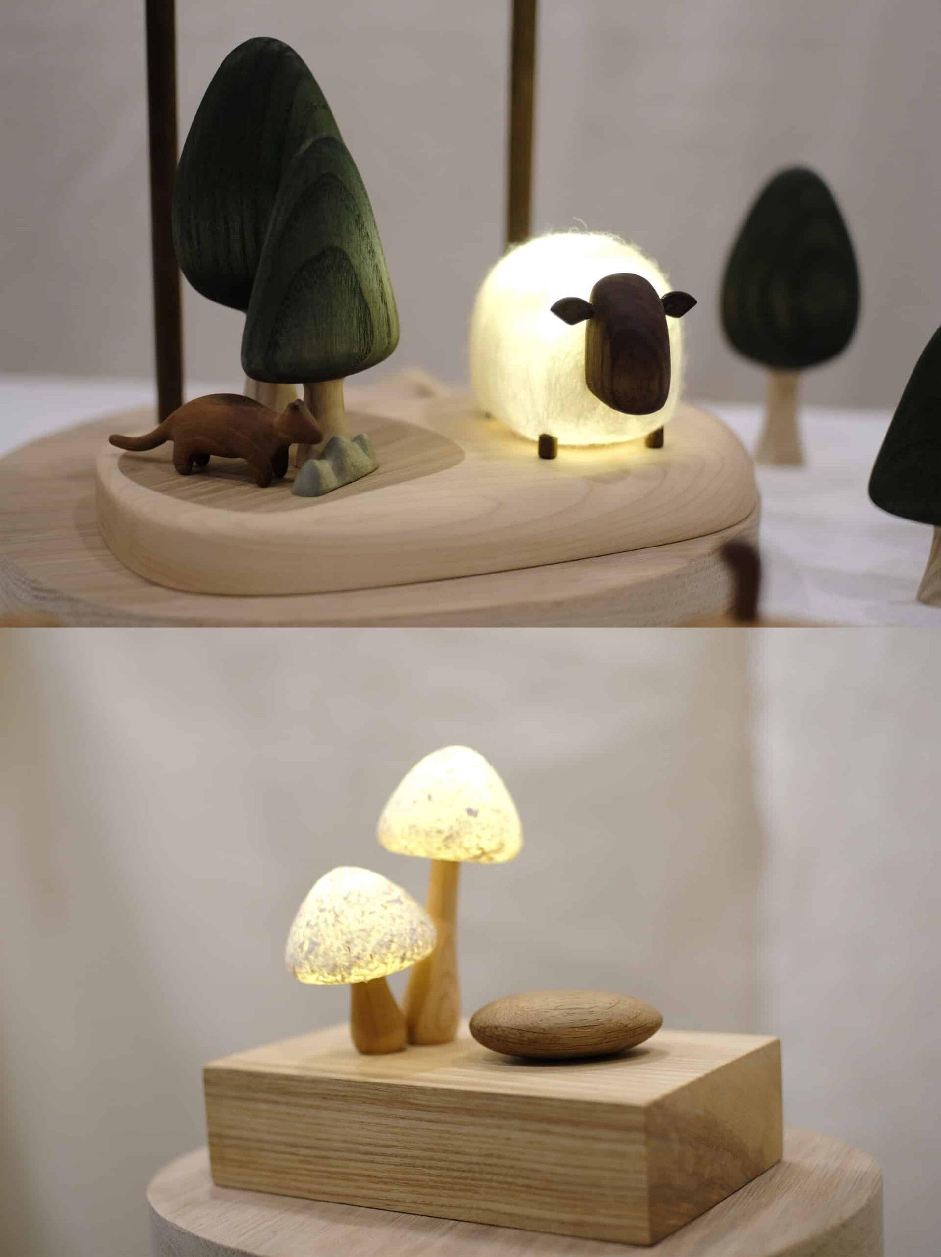 互動式木質燈飾_圖片提供/MoziDozen木子到森1 木作+燈具,電燈開關和木頭的結合就像是解謎的過程