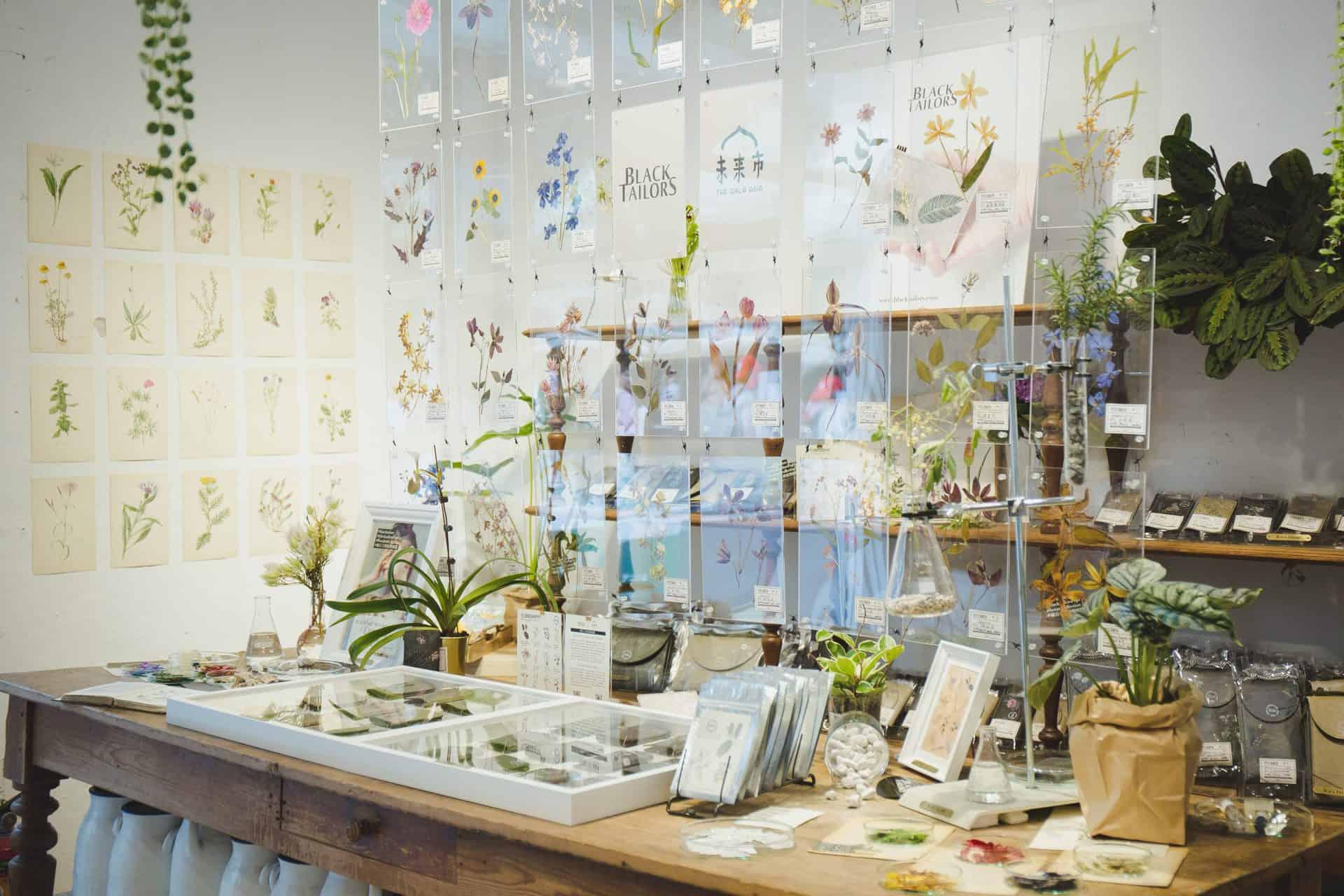 礦石上的植物圖鑑系列-花草_未來市Pop-Up-Shop_圖片提供/BLACK TAILORS 小黑尾巴
