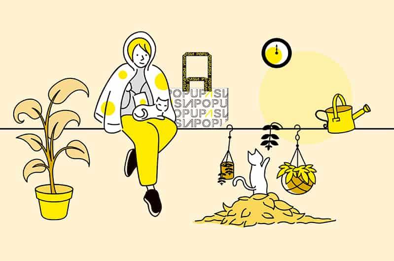 自然黃包包-插圖-popupasia-2020