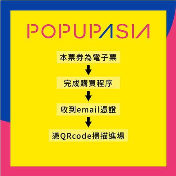 電子票券使用流程-2020年popupasia亞洲手創展
