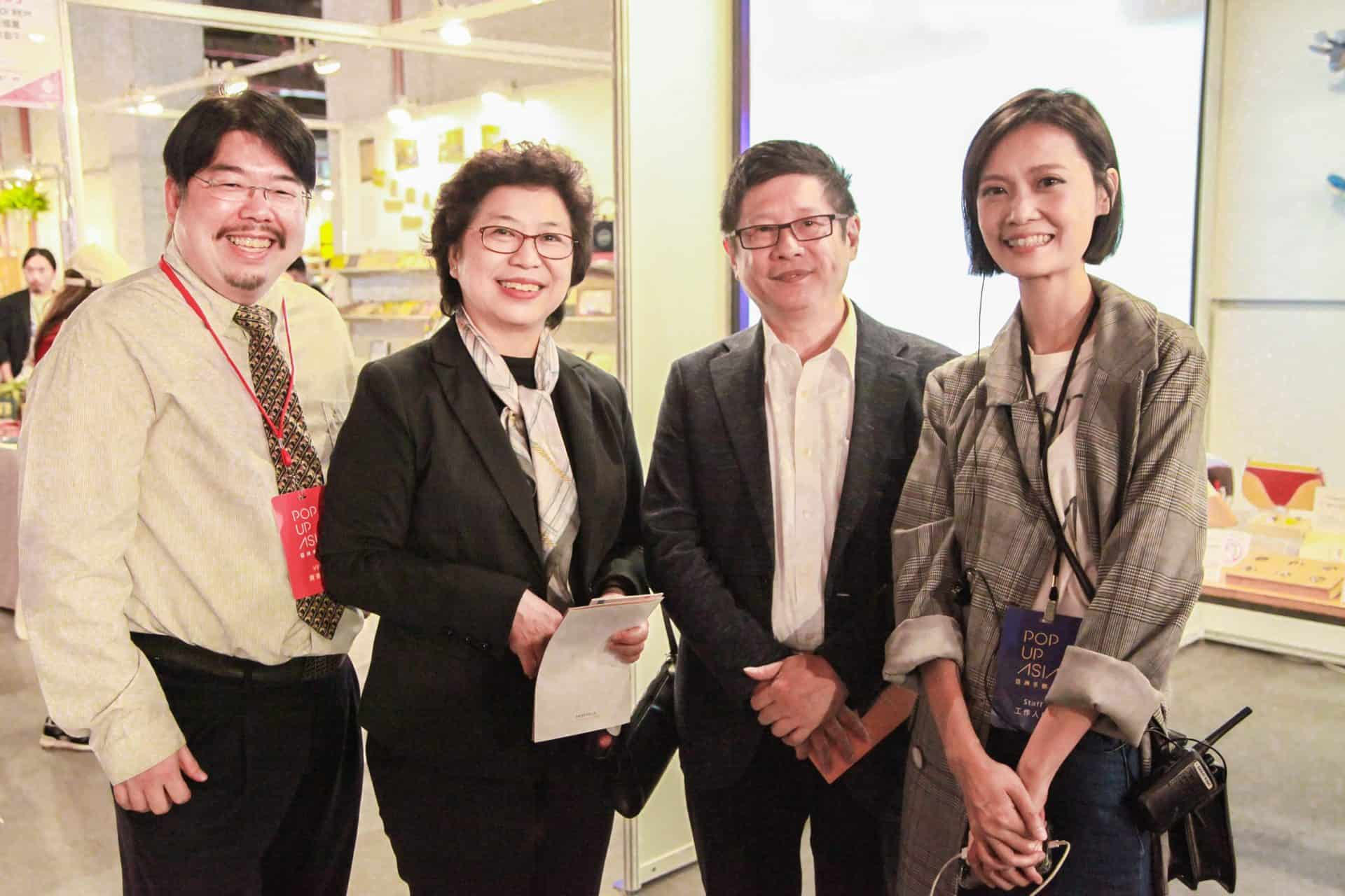 泰國商務處陳春蘭處長與外貿助理何其松先生與台北市產業發展局林崇傑局長蒞臨亞洲手創展